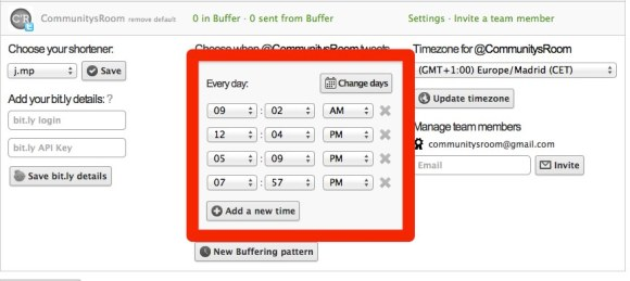 Programar tweets con Buffer