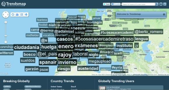 interfaz de trendmap