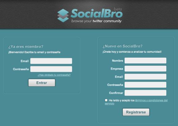 Registarse en SocialBro