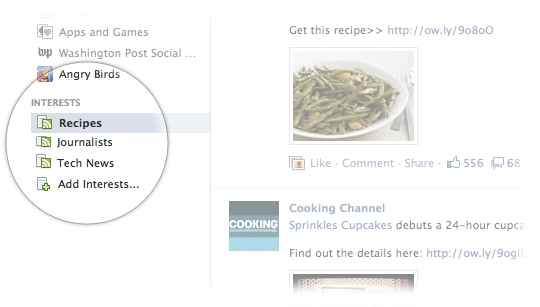 Lista RSS en Facebook