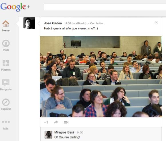 Fotos en Google Plus