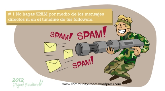 10 cosas que no debes hacer en twitter | no hacer spam