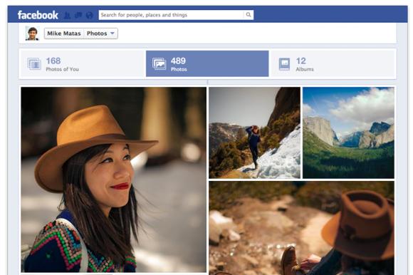 Nuevo diseño de fotos en Facebook