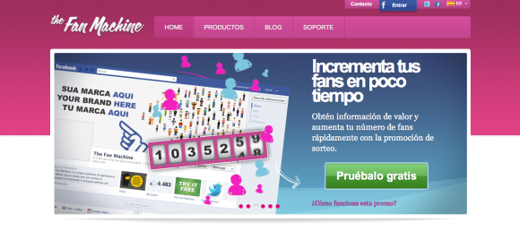 Crear sorteos y promociones en Facebook con The Fan Machine
