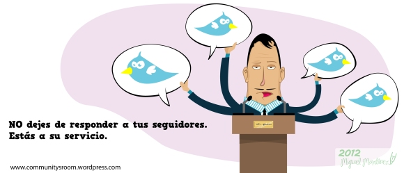 10 cosas que no debes hacer en twitter estás al servicio de tus followers
