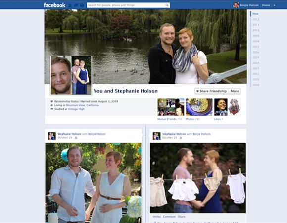 Nuevo aspecto de las páginas de amistad de Facebook