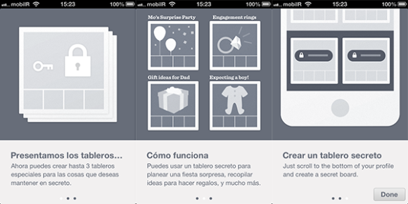 Tablones secretos en Pinterest