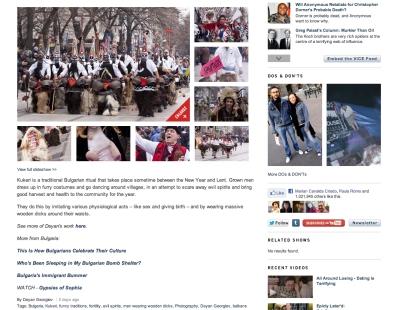 Imagen y texto de Vice en web